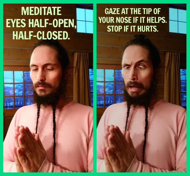 Meditation - eyes closed or open - OmYourself meditation